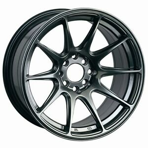 17x8 25 Xxr 527 Wheels 5x100 114 3 Rim 35mm Chromium Black Fits Type R Eclipse