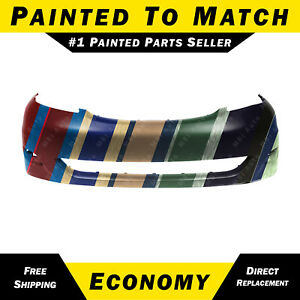 New Painted To Match Front Bumper Cover Replacement For 2006 2010 Toyota Sienna
