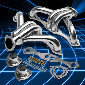 For Chevy Small Block Hugger 283 305 327 350 400 Shorty Header Manifold Exhaust
