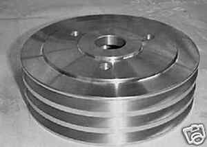 Bbc Lower Crank Pulley Aluminum Triple Groove Short Water Pump 8849 Clearance