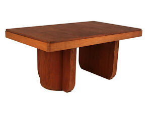 French Art Deco Modernist Dining Table Desk
