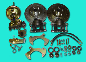 1957 1964 Ford Full Size Galaxie Front Disc Brake Conversion Drilled Slotted
