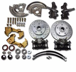 1968 1972 Chevelle Gm A Body Front Disc Brake Conversion 2 Inch Drop Spindles