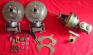 1965 1968 Ford Galaxie Front Power Disc Brake Conversion Drilled Slotted Rotors