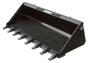 Blue Diamond 72 Standard Duty Long Bottom Tooth Bucket Skid Steer Attachment