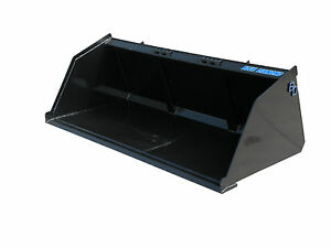 Blue Diamond 96 Heavy Duty Snow Mulch Bucket Skid Steer Attachment