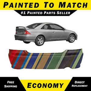 New Painted To Match Rear Bumper Cover Replacement For 2004 2005 Honda Civic 2dr
