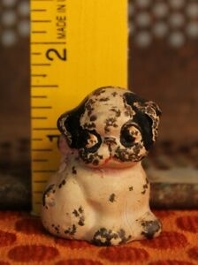 Antique Hubley Puppo Boston Terrier Puppy Dog Cast Iron Paperweight Toy