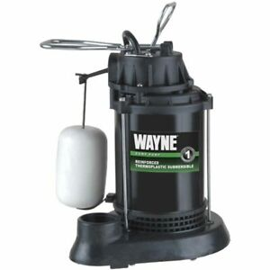 Wayne Spf50 1 2 Hp Thermoplastic Submersible Sump Pump W Vertical Float Sw
