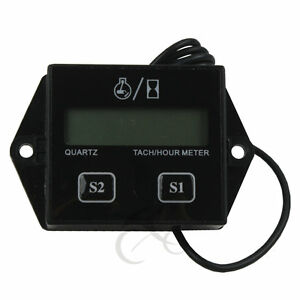 New Digital Tach Hour Meter Tachometer Gauge For 2 Stroke 4 Stroke Gas Engines