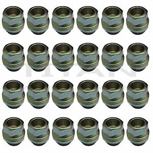 24 Piece 14x1 5 Open End Lugs Nuts Factory Style Lugs Fits Chevy Gmc Gm