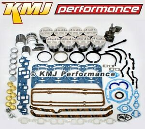 Small Block Chevy 350 Engine Rebuild Overhaul Kit W Pistons Rings Bearings