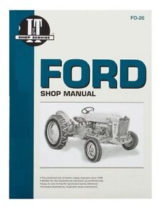 Shop Manual Ford 1801 2000 4000 501 600 601 700 701 800 801 900 901 Tractor