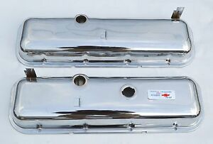 65 72 Chevrolet Chrome Valve Covers Bbc 396 427 454 Drippers Free Decal