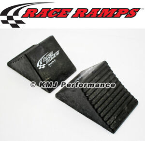 Race Ramps Rr Wc 2 Heavy Duty Rubber Wheel Chock Anti Skid Pair
