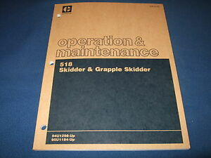Cat Caterpillar 518 Grapple Skidder Operation Maintenance Manual 94u 95u