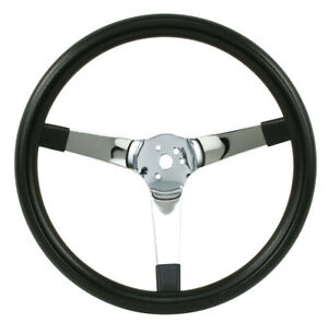Empi Steering Wheel Chrome 3 Spoke Solid 14 3 4 Dia 4 Dish Vw Bug Baja Buggy