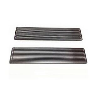 1967 68 Chevrolet Camaro 1968 72 Nova Ss Chrome Black Hood Louvers Pair