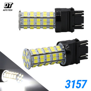 2x 3157 6000k White 68 Smd Led Drl Daytime Running Lights Bulbs Reverse Brake