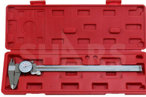 Shars 12 Dial Caliper Shock Proof 001 Stainless 4 Way Inspection Report R