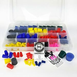 502pc Powder Coating Plug Assortment Kit High Temp Silicone Paint Coat Masking