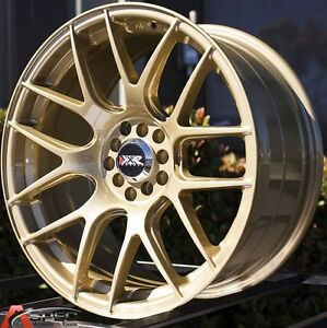 18x9 75 Xxr 530 Wheels 5x100 114 3 20mm 73 1 Gold Fits Lancer Evolution 9 05 07