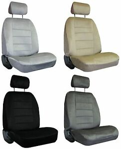 For2009 2015 Toyota Tacoma P up 2 Quilted Velour Encore Solid Colors Seat Covers
