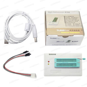 Tl866a Programmer Usb Eprom Flash Bios 8 2 Adapter Sockets Clip For 13000 Ics