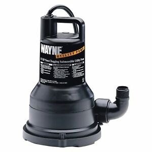 Wayne Thermoplastic Submersible Utility Pump 2500 Gph 1 2 Hp 1 1 4in vip50