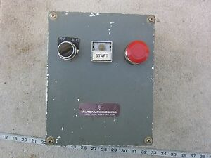 Autonumerics Man auto Start Stop Control Station Enclosure Box Used