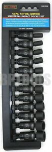 12pc 1 4 Drive Universal Swivel Impact Socket Set Professional Metric Socket