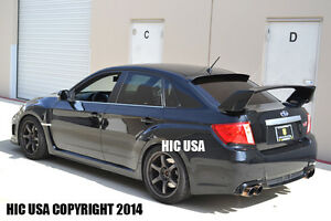 Hic Usa 2008 To 2014 Impreza 4dr Sedan Rear Window Roof Visor Spoiler