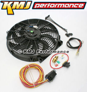 High Cfm Electric Curved S Blade 14 Radiator Cooling Fan W Wiring Harness Kit