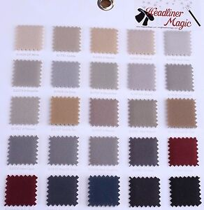 Auto Headliner Upholstery Fabric Material 120 X 60 Any Color From The Chart