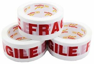 Pre printed Fragile Tape 2 2 2mil 36pcs 5001 36 Sag Supplies