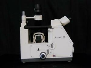 Zeiss Axiovert 35 Inverted Phase Contrast Microscope