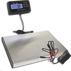 440lbs Lcd Ac Digital Floor Bench Scale Postal Platform Shipping pet 200kg