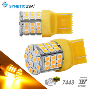7443 7440 Led Amber Yellow Rear Turn Signal Parking Drl Side Marker Light Bulbs