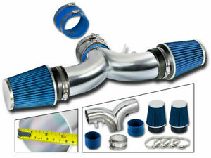 Dual Twin Air Intake Kit Blue Filter For 94 96 Fleetwood Roadmaster 4 3l 5 7l V8