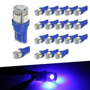20x T10 921 High Power Blue Led License Plate Interior Smd Light Bulbs