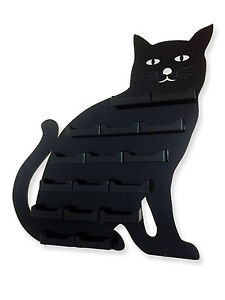Cat 16 Pocket Black Animal Acrylic Wall Mount Business Card Holder