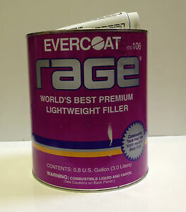 Evercoat Rage Premium Lightweight Body Filler Fib 106 gallon
