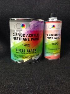 Gloss Black Gallon Kit Single Stage Acrylic Urethane Auto Paint Kit