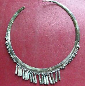 Authentic Ancient Lake Ladoga Viking Artifact Rare Bronze Necklace E26