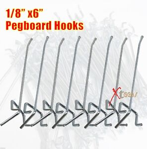 100pc 1 8 x6 Pegboard Hooks Shelving Pegboard Shelf For 1 4 Or 1 8 peghoard