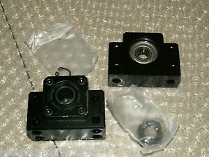 1 Set Cnc Ballscrew End Support Bk20 Fixed Bf20 Floated Side Bearing Block Mount