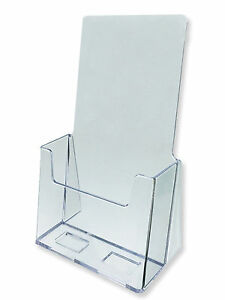 Acrylic Literature Brochure Holder For 4x9 Lot Of 20