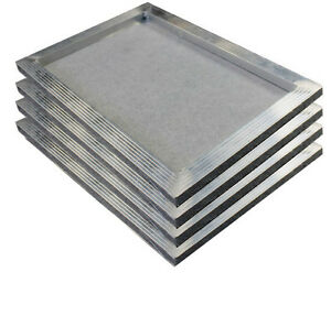 4 Pcs 16 X 20 Inch Aluminum Screen Printing Frame With 120 White Mesh