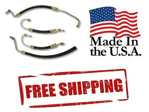 63 79 Corvette Power Steering Hose Kit Usa Made Sb Chevy Pump Ram Cylinder Hoses