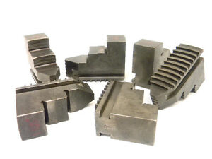 Used Set Of Hard Jaws For 6 jaw Scroll Lathe Chuck 1 485 Jaw Width